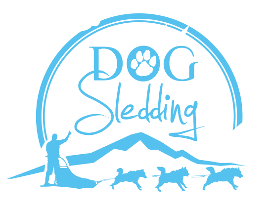 dog sledding iceland logo low definition