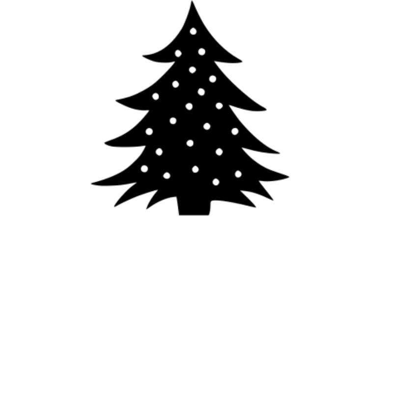 christmas tree icon white background